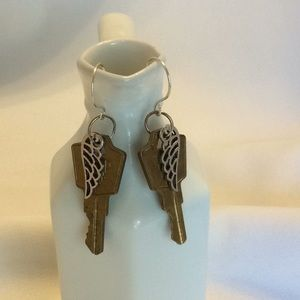Keys and Wings Earrings